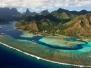 POLYNESIE : Moorea et Tetiaroa vus du ciel