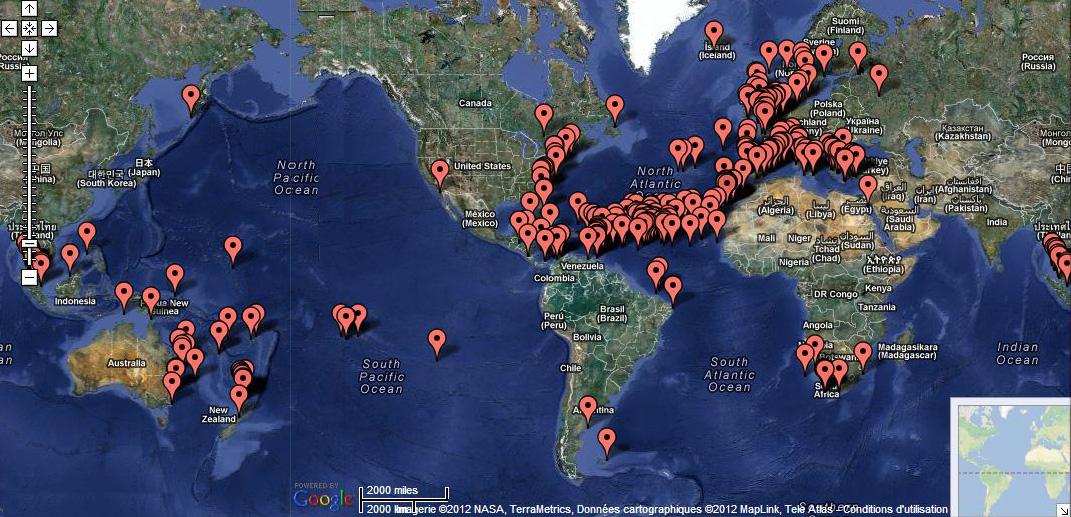 FREQUENTATION DES OCEANS par les «plaisanciers»