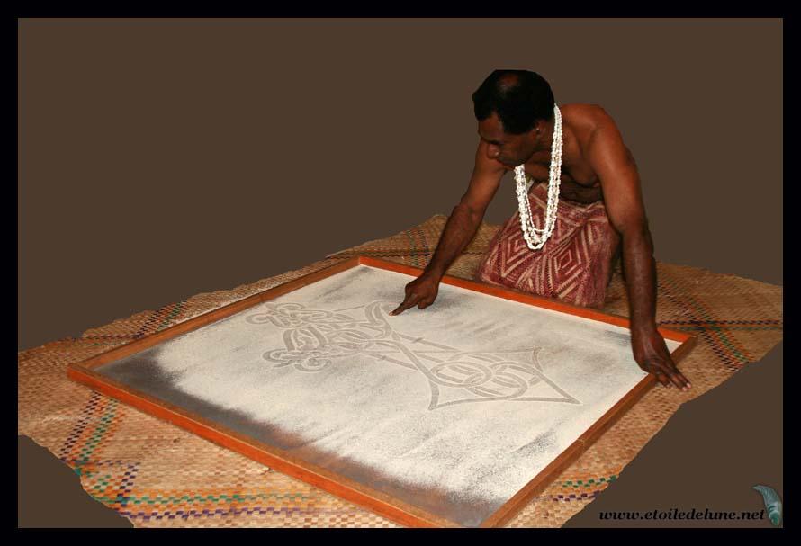 Port Vila: dessins de sable et musique traditionnelle