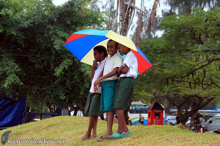 VANUATU : une célébration sous la pluie, et dans la bonne humeur nivane