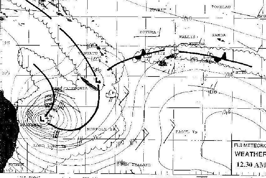 INFOS METEO zone de convergence du Pacifique Sud Ouest