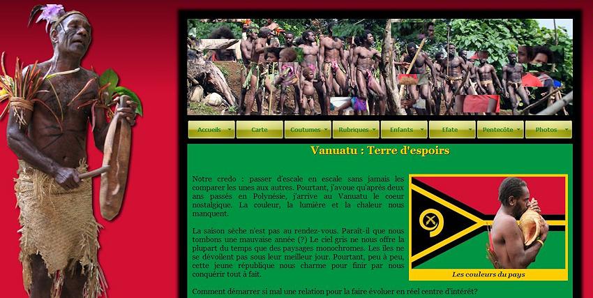 VANUATU : Nouvelle Page sur le site Internet