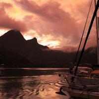 MOOREA : coucher de soleil en temps réel