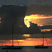 COUCHER DE SOLEIL sur les îles sous le vent