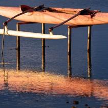 Les pirogues du lagon