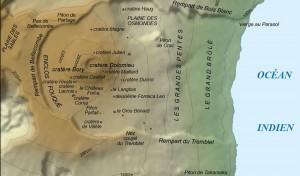 Carte de la Fournaise