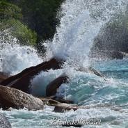 Houle de l'Indien, rivages sauvages des Seychelles