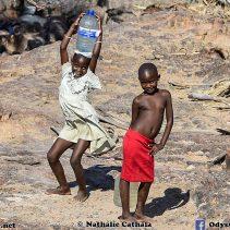 La frontière aquatique entre la Namibie et l'Angola