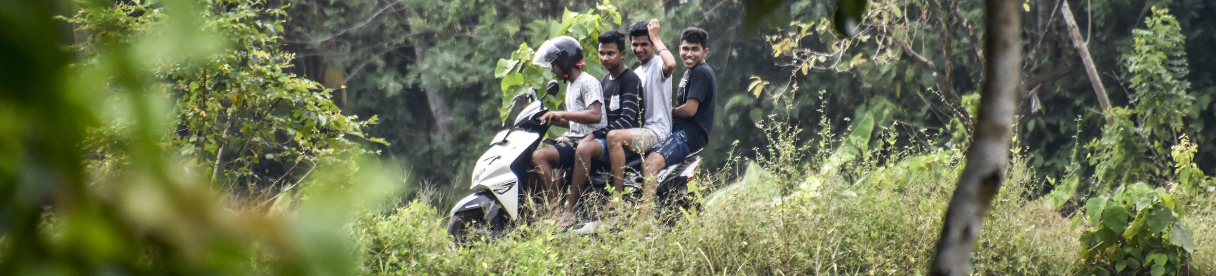 Sri lanka - route - moto