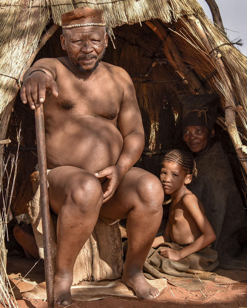 Namibie, safari, désert, campement, peuple San
