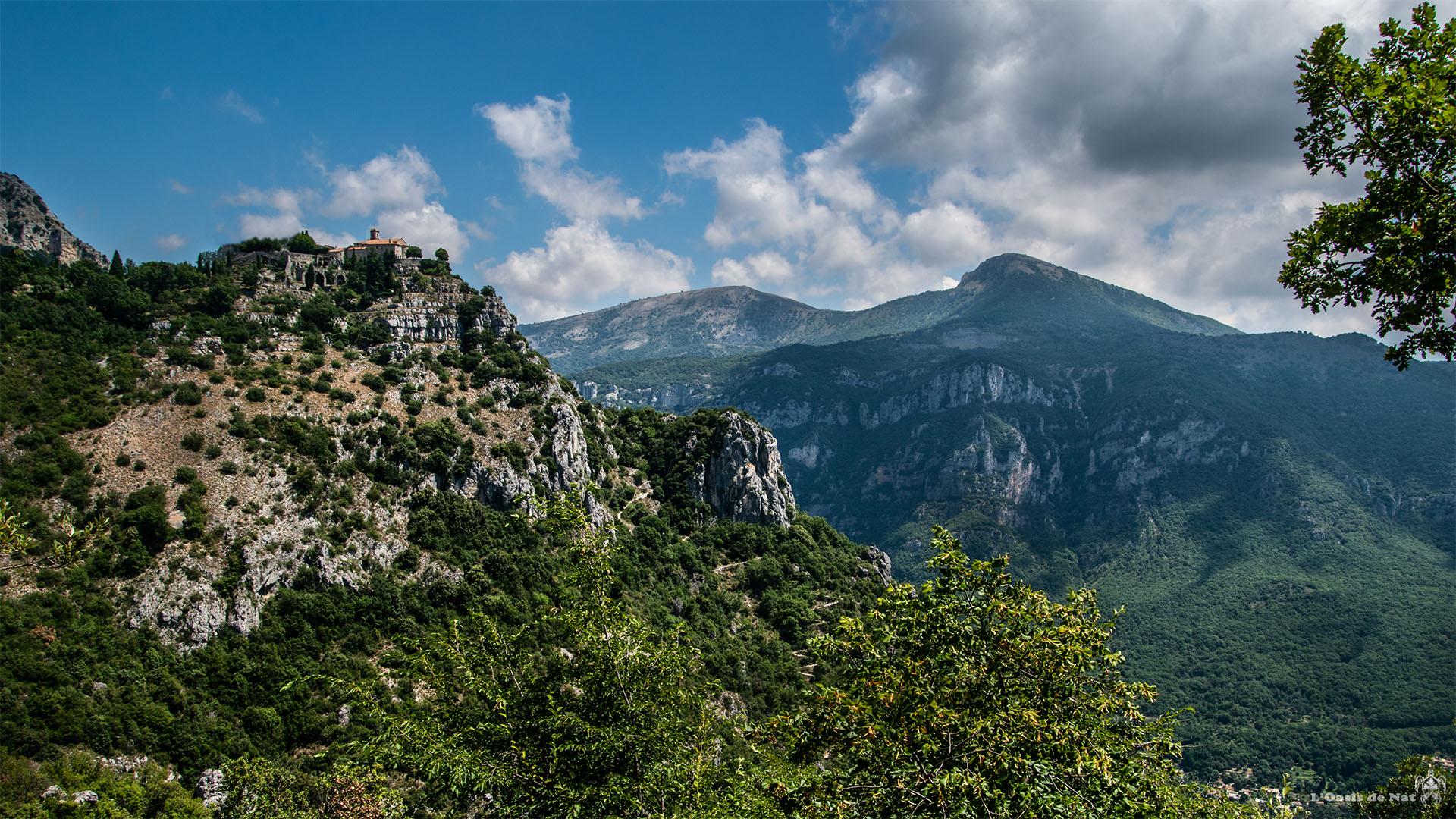 Gourdon, France, alpes martimes, côte d'azur, village, Méditerranée, L'oasis de nat