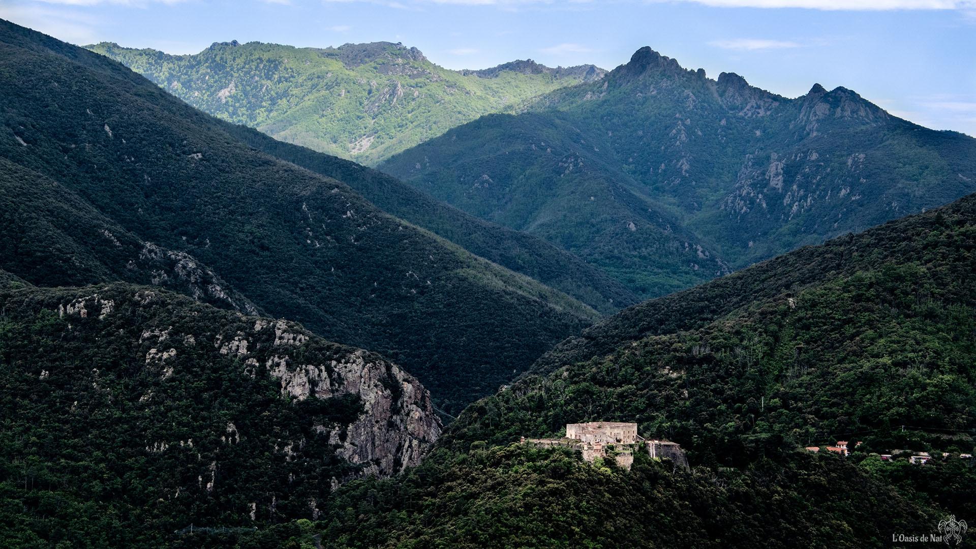 Montbolo, randonnée, vélo, haut valespir, france, méditerranée, paysages, l'oasis de nat