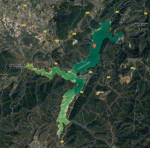 lac saint cassien_plan- vue satellite_ l'oasis de nat