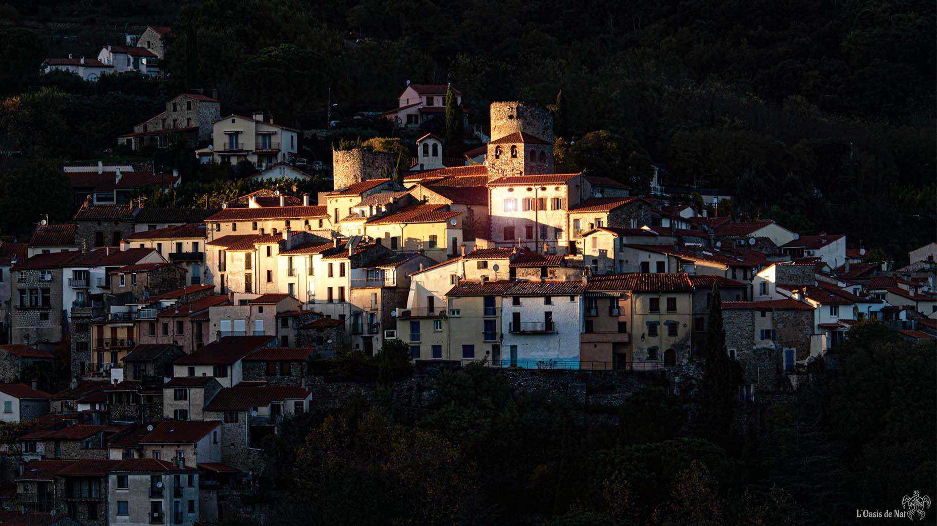 Palalda, Amelie les Bains, coucher de soleil, Pyrénées orientales